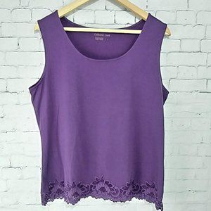 Coldwater Creek Purple Sleeveless Top Size: Large